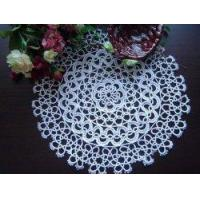 Vintage Handmade Bobbin Lace White Round Doily/placemat Manufactures