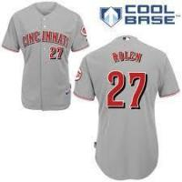 Buy cheap Cincinnati Reds #27 Scott Rolen Cool Base Authentic Grey Man MLB Jersey from wholesalers