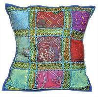 Wholesale Patchwork Beaded Indian Accent Throw Pillow Cushion Cover from china suppliers