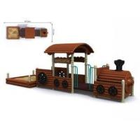 Buy cheap Primary School Timber Wooden Train Playground Entertainment Equipment from wholesalers
