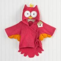 Buy cheap gifts Baby Aspen My Little Night Owl Hooded Terry Spa Robe (Pink) from wholesalers