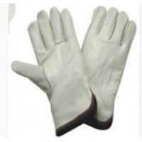 Customized Natural Color Industrial Safety Cow Split Leather Gloves For Welding Manufactures