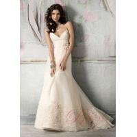 Buy cheap Cheap A-line Wedding Dresses Online 2011 Sweep Train Design WD14005 from wholesalers