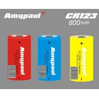 Buy cheap CR123 non-rechargeable lithium batteries from wholesalers