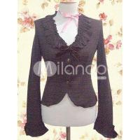 Buy cheap Gothic Black Long Sleeves Ruffle Lolita Blouse from wholesalers
