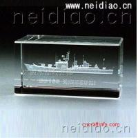 Buy cheap Large ships-Square 3D Laser Crystal from wholesalers