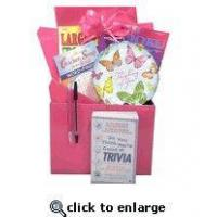 Buy cheap Gift for Cancer Patient |Boredom Buster Get Well Gift Basket with Book in Pink from wholesalers