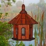Buy cheap Bird Feeders Rustic Bird Feeder Shake Roof Stain Wood from wholesalers