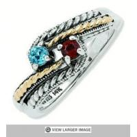 China Generations of Love Two Tone Family Ring on sale