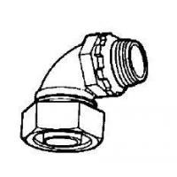 Buy cheap Malleable Iron liquid tight connectors 90 Degree from wholesalers