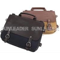 102205-Faux-leather trim tote