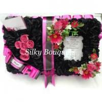 Buy cheap Funerals & Memorials Open Book Tribute Black and Pink from wholesalers