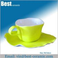 Wholesale Ceramic cup&saucer ceramic breakfast cup and saucer from china suppliers