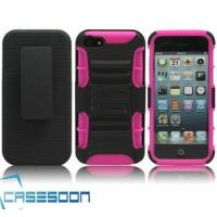 Buy cheap Hard Silicone HOLSTER KICKSTAND Case for Apple iPhone 5 5G from wholesalers
