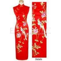 Buy cheap Chinese Wedding Dress Phoenix & Peony Embroidery Silk Cheongsam - Red from wholesalers