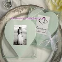 Buy cheap Unique Square Glass Photo Coaster With Heart Design Cut Out from wholesalers