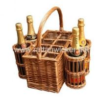 Buy cheap Wicker gift wine boxes with glasses, wine bottle carriers, wine baskets from wholesalers