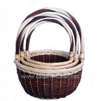 Buy cheap unpeeled willow flower baskets set 3 BYS-GI-088 from wholesalers