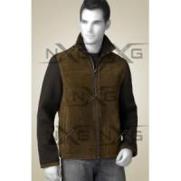 Wholesale Two Tone Suede Leather Jacket from china suppliers