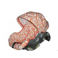 China Custom Orange swirls replacement covers for infant car seat Fits baby trend on sale