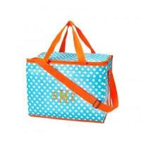 Buy cheap Aqua/White Dot Cooler Tote from wholesalers