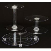 Buy cheap 3 Tier Acrylic Wedding Cake Stand from wholesalers