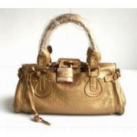 Buy cheap Chloe Singapore Paddington Calf Leather Satchel Bag Golden from wholesalers