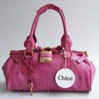 Buy cheap Chloe Singapore Paddington Calf Leather Satchel Bag Magenta from wholesalers