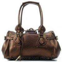 Buy cheap Chloe Singapore Paddington Calf Leather Satchel Coffee from wholesalers