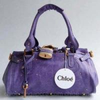 Buy cheap Chloe Singapore Paddington Calf Leather Satchel Bag Purple from wholesalers