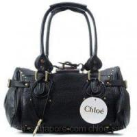 Buy cheap Chloe Singapore Paddington Calf Leather Satchel Black from wholesalers