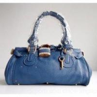 Buy cheap Chloe Singapore Paddington Calf Leather Satchel Blue from wholesalers