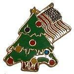 Wholesale Seasonal pins Christmas Tree and USA Flag from china suppliers