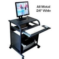Buy cheap STS5801-METAL: 24 inch wide All-Metal narrow computer cart - Black from wholesalers