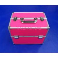 Wholesale 3mm MDF Pink Aluminum Makeup Nail Case Handle For Travel With Two Locks from china suppliers