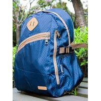 Buy cheap Bags Wholesale Classy Terylene Color Block Zipper Blue Plaid Backpack from wholesalers
