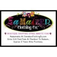 Zamakerr Clothing Co. E-Gift Card Manufactures
