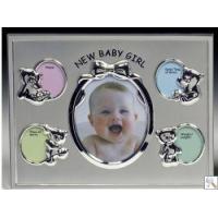 Buy cheap Silver New Baby Picture Frame from wholesalers