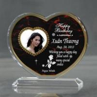 Buy cheap Personalized Red Heart Birthday Acrylic from wholesalers
