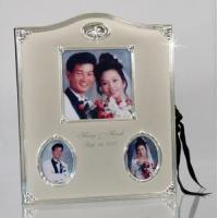 Buy cheap Personalized Silver Wedding Ring w. Crystal Photo Album. 8W x 10H from wholesalers
