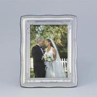 Buy cheap Personalized 5x7 Wavy Silver Picture Frame from wholesalers