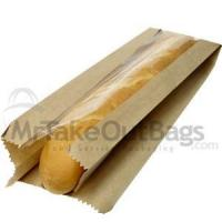 Buy cheap French Bread Brown Kraft Non-Perforated Window Paper Bakery Bags - 6 x 4 x 21 (500 / case) from wholesalers