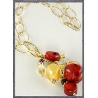 Buy cheap Coral and Jade Gold-Filled Lariat from wholesalers