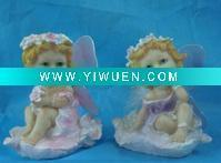 Buy cheap Artificial Crafts(970) Polyresin fairy figurine with wing from wholesalers