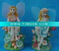 Wholesale Artificial Crafts(970) Flower fairy polyresin figurine with wing from china suppliers