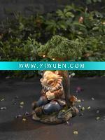 Buy cheap Artificial Crafts(970) Poly Garden Sleeping Gnome with Solar Light from wholesalers