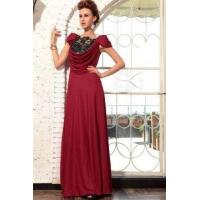 Buy cheap Evening Dress Red Silk Deep Cowl Neck Prom Dress from wholesalers