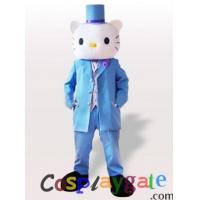 Buy cheap Male Hello Kitty in Blue Wedding Suit Adult Mascot Costume from wholesalers