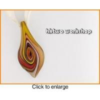 Buy cheap Murano Glass Gold Red Yellow Coffee Leaf Pendant from wholesalers