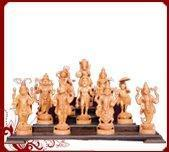 Buy cheap Sandalwood Dasa Avatara Statues from wholesalers